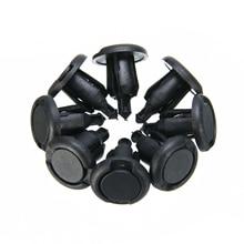 50Pcs/Lot 10mm Hole Car Plastic Rivet Bumper Fender Retainer Fastener Push Clips Pin Black Styling
