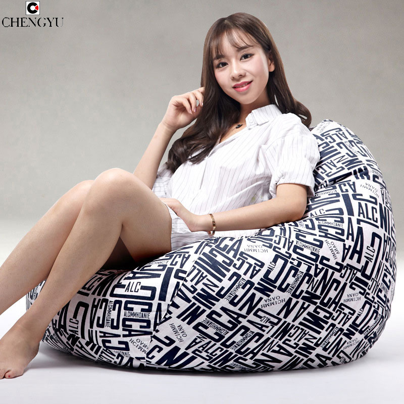 New Styles Bean Bag Living Room Furniture Sofa Cover Fashion For Living Room Linen Fabric