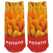 2 Pieces 3 D Prited Socks Cheap Harajuku Style Funny Novelty Women Men Socks