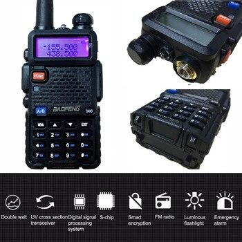 UV-5R 8W Walkie Talkie 10KM PTT UHF VHF Portable CB Radio