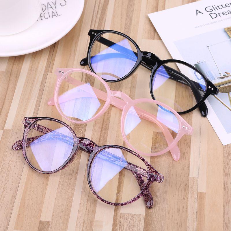 Men Women Glasses Frame Anti Blue Ray Anti Radiation Retro Round Frame Eyewear