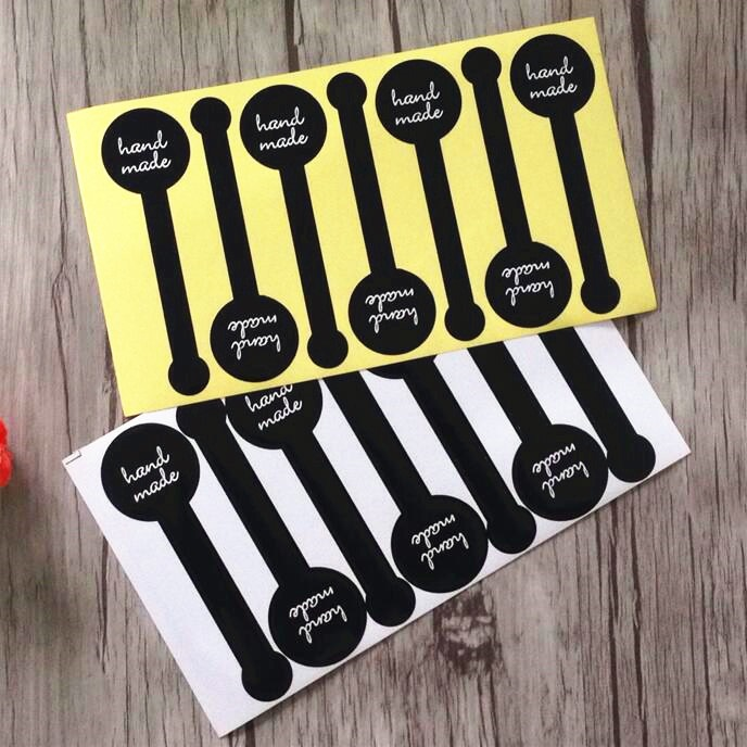 700pcs/lot Cute Black Lollipop Adhesive Seal Sticker Gift Handmade Label Stickers