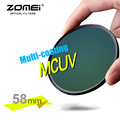 ZOMEI Genuine 58mm PRO II MCUV Multi-Coated MC UV Filter Optical Glass Filter for Canon NIkon Hoya Sony DSLR Camera Lens 58 mm