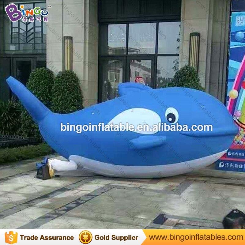 Бесплатная доставка 5 М длинные дорожный надувной Дельфин индивидуальные декоративные морской жизни раздутие дельфины для надувные игрушк