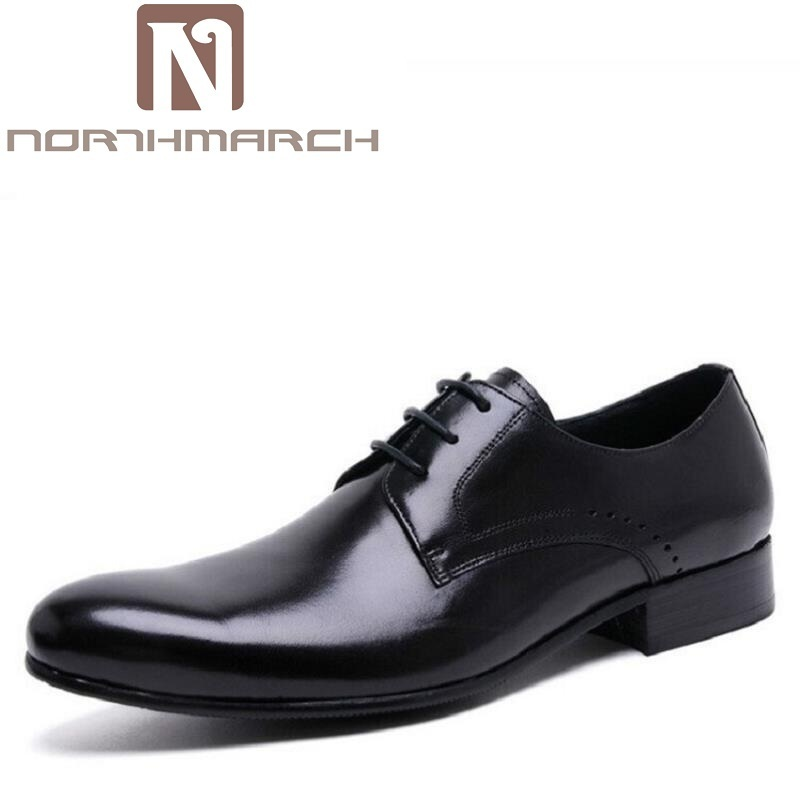 NORTHMARCH Pointed Toe Men Shoes Brand Leather Male Dress Shoes Luxury Mens Business Casual Classic Gentleman Oxford ShoesNORTHMARCH Pointed Toe Men Shoes Brand Leather Male Dress Shoes Luxury Mens Business Casual Classic Gentleman Oxford Shoes