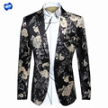 GX16002 new winter national wind flowers in Europe and the United States big popular logo men's suit Men's small business suit