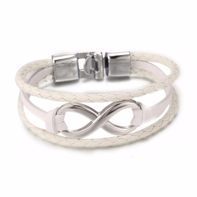 Bracelet en cuir style infinity à saisir sur myzenday.com