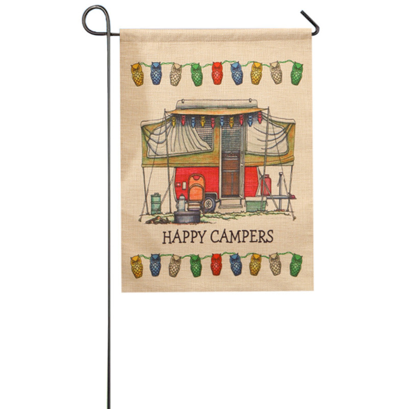 Aliexpresscom Buy Vintage Campers design garden flag 3246cm