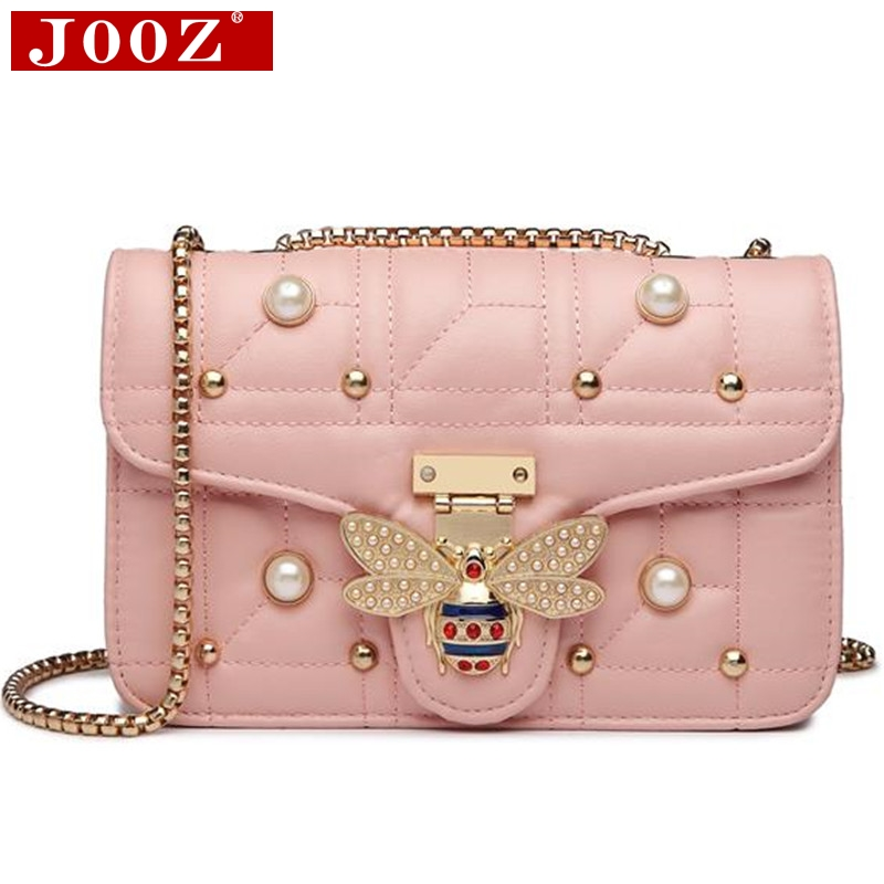 2020 Brands Designer Women Shoulder Bag Chain Strap Flap Ladies Leather Handbags Messenger Bag Women Clutch Bag Bee Buckle Purse