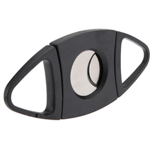 SOSW- Stainless Steel Pocket Cigar Cutter Double Blades Knife Scissors Tobacco Gift
