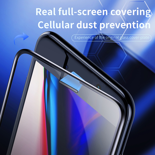 Baseus 0.3mm Thin Protective Glass For iPhone 7 8 6 6s Screen Protector 9H Full Coverage Tempered Glass For iPhone X XS MAX 3