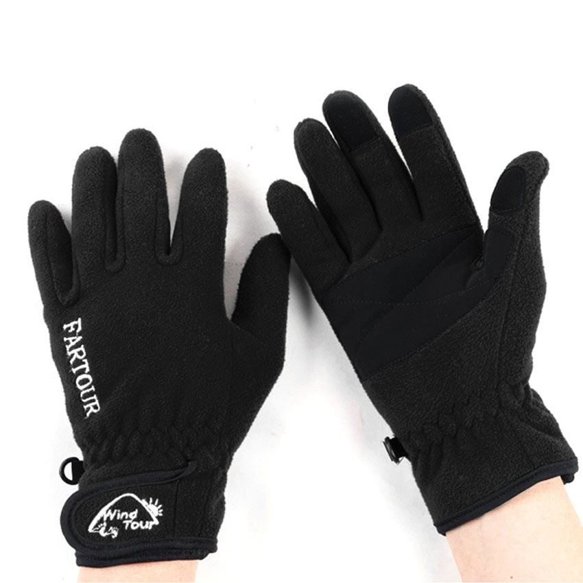 Mens Womens Winter Thermal Fleece Ski Gloves Outdoor Sports Hiking Camping Skiing Cycling Female Male Full Finger Gloves VK014