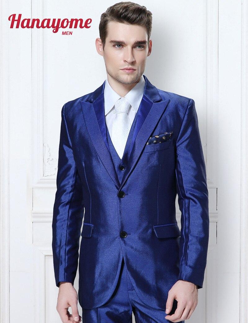 Vestido formal hombre azul