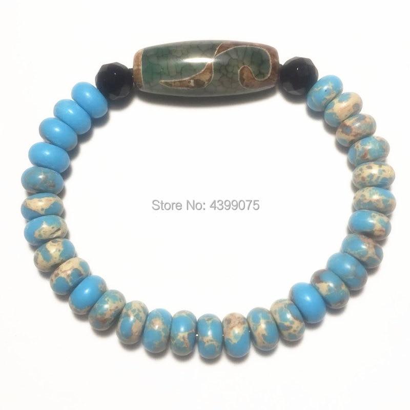 DZI Bracelet Green&khaki 2 3 5 7 9eyes Aquarius Lotus Main Beads Multi-pattern Optional Female Jewelry Bracelet Free Shipping