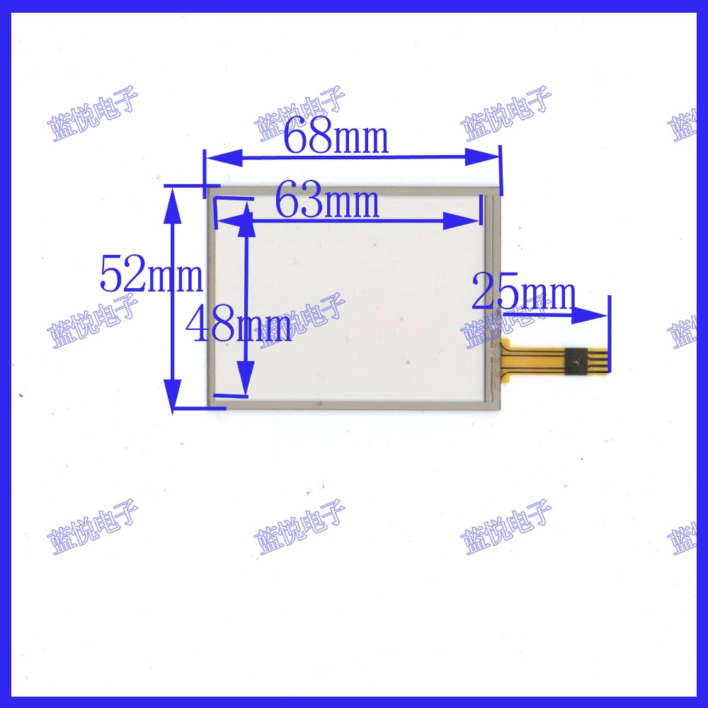 Купить с кэшбэком ZhiYuSun 5PCS/Lot 68mm*52mm 2.8 inch touch screen  68*52 General touch screen resistance screen