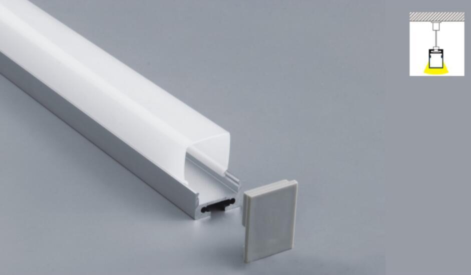 Envío Gratis 2,5 m/unids 50 m/lote perfil de aluminio con cubierta lechosa o transparente y tapas de extremo y clips para tira LED uso