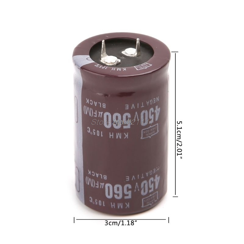 Electric Welder 450V 560uF Aluminum Electrolytic Capacitor Volume 35x50 Hard Foot Dropship
