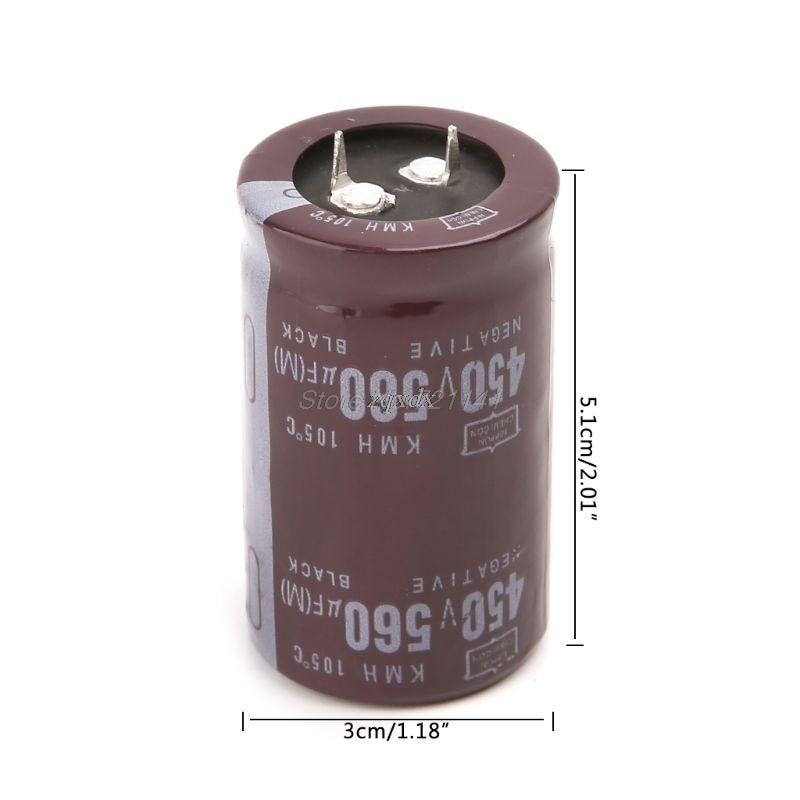 Electric Welder 450V 560uF Aluminum Electrolytic Capacitor Volume 35x50 Hard Foot