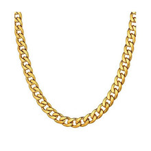 1 stuk 8-30 Inches Goud Rvs Curb Collier voor Mannen Vrouwen Breedte 3mm-7.5mm(China)