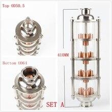 Kupfer blase Destillation spalte mit 4 abschnitte für brennerei Glas spalte