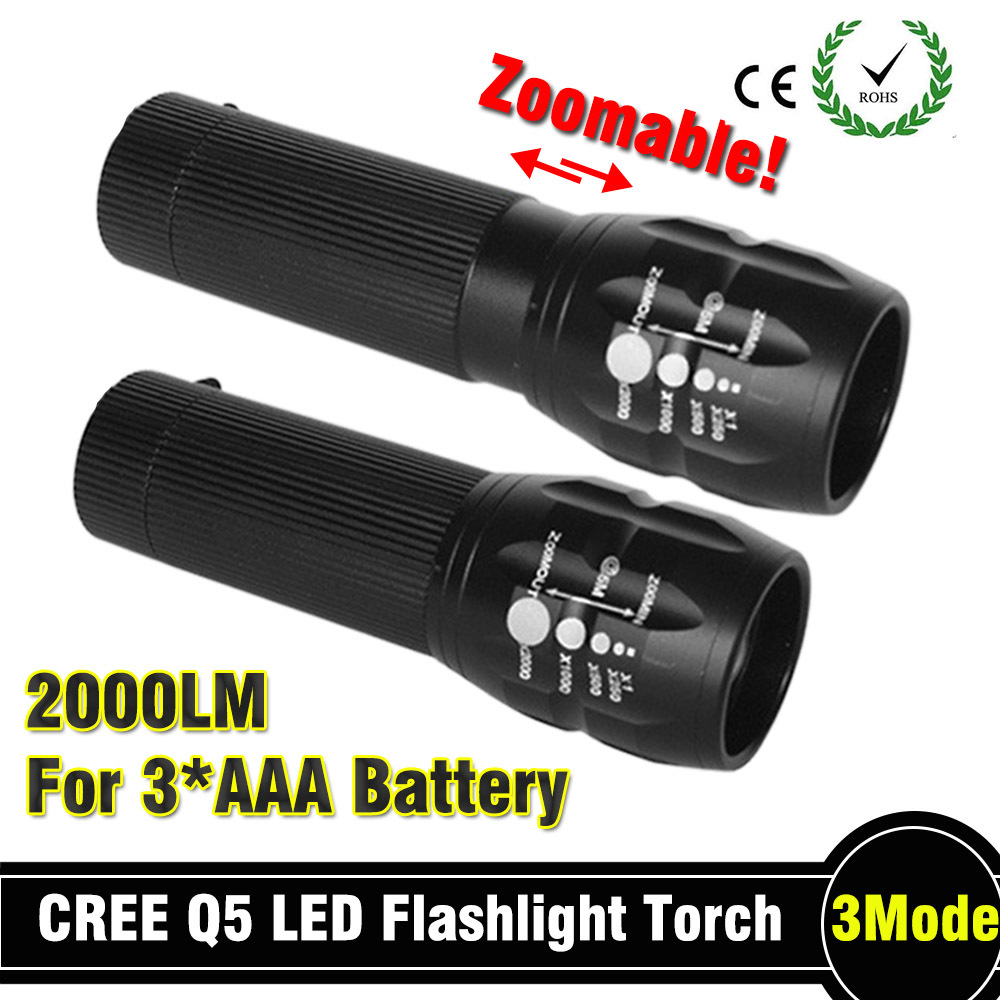 2015 90 off flashlight Lanterna de led High Power Torch 2000 lumen Zoomable mini LED Flashlight