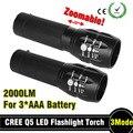 92% de desconto Poderosa lanterna tatica Lanterna led Torch 2000 lumen Zoomable mini Lanterna LED lanterna luz luz da bicicleta