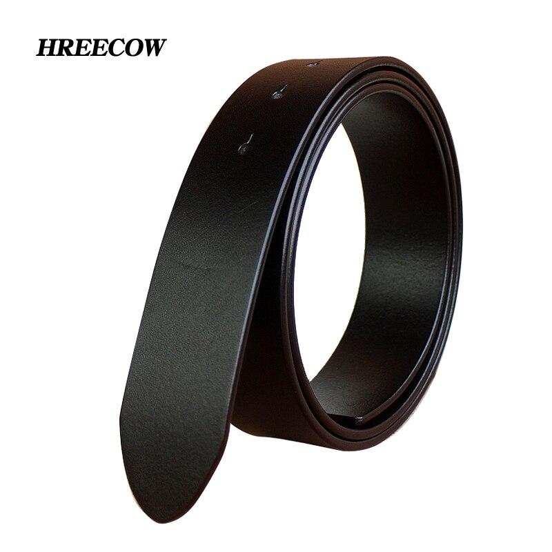 Sin hebilla 3,3 cm y 3. 8 cm cinturones para hombres de alta calidad hebilla de hebilla correa de cuero genuino Ceinture Homme