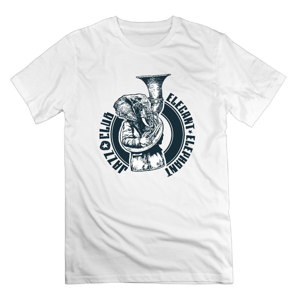 Desain t shirt elegan - Desain T Shirt Elegan Mens Desainer Pakaian Pakaian Retro Gajah Desain Jazz Klub Elegan Hip