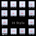 2Packets/Lot French Design Manicure Decal Nail Stickers Set Nail Art Accessoires Decorations Calcomanias