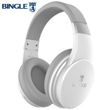 Bingle Fb110 Heavy Bass 3D Surround Stereo BT 4.1 Over Ear Head Phones Wireless Bluetooth Headset Headphone With Mic 3.5MM Audio(China)