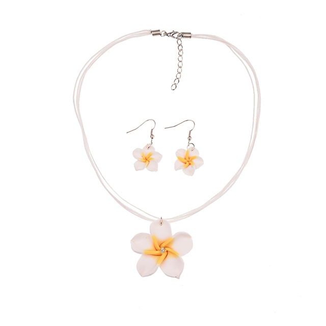 Girls' Floral Necklace and Earrings