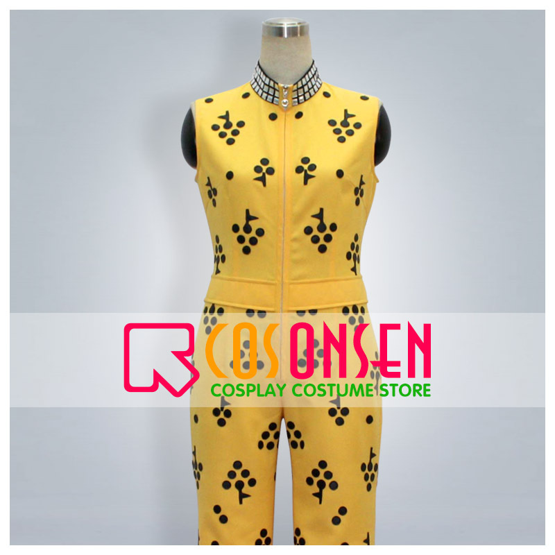 COSPLAYONSEN ZONE-00 Byakko Cosplay Costume Yellow Balck Color All Size