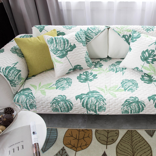 Printed Pattern Combination Cotton Sofa Covers For Home Living Room Decorative  Slip Resistant Sofa Four Seasons
