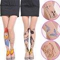 Mulheres Calças Justas 20 Estilo para A Escolha Padrão Tatuagem Transparente Sheer Pantyhose Tights Linda Acessórios de Moda Das Mulheres