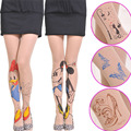 Women Tights 20 Style for Choice Tattoo Pattern Transparent Sheer Pantyhose Tights Lovely Fashion Women Accessories