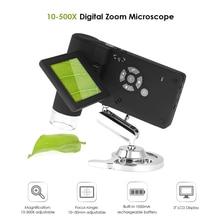 """Профессиональный ручной цифровой камера микроскоп светильник Лупа """" TFT lcd цветной дисплей с 5 м Gmage сенсор 500x увеличение"""