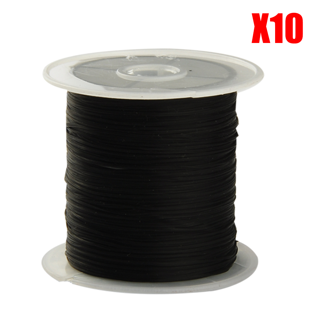 10 rollsx10m 0.25mm DIY Jewelry Stretch Cord, Crystal Elastic Beading Cord String Thread for Necklace Bracelet 4 Colors