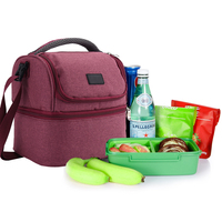 Thermal Insulated Lunch Totes Bag Picnic Lunch Box Nylon For Man Women