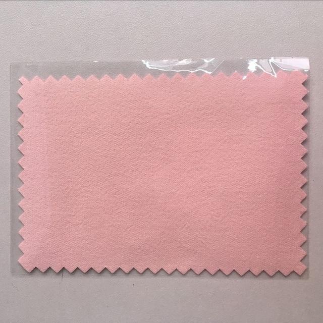 1 PCS 7 ซม. * 10 ซม. เงินทำความสะอาด flannel ภาษาโปลิชคำผ้า Suede ผ้าสีเงินเงินเคลือบผ้า opp ถุงพลาสติก