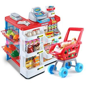 Essen Für Die Küche Spielen | Neue Große Größe Küche Set 82 Cm Höhe Kunststoff Pretend Spielen Spielzeug Mit Licht Kinder Küche Kochen Supermarkt Spielen Lebensmittel Warenkorb Spielzeug D76