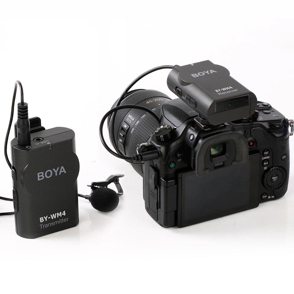 BOYA-BY-WM4-Wireless-Lavalier-Microphone-system-for-Canon-Nikon-Sony-Panasonic-DSLR-Camera-Camcorder-iphone (1)