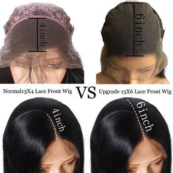 6inch Deep Parting 13X6 Lace Front Human Hair Wigs For Black Women 8-24inch 150% Density Natural Brazilian Remy Human Hair Wigs