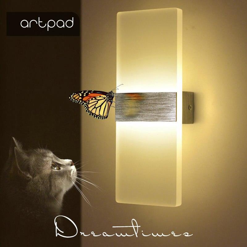 Artpad 6W/10W Minimalist LED Acrylic Wall Light Up Down ... on Led Interior Wall Sconces id=24382
