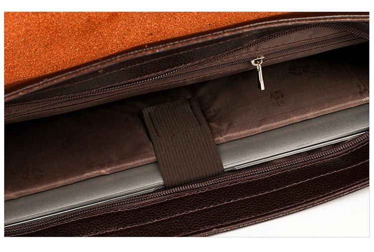 HTB1ikJzSCzqK1RjSZPcq6zTepXag Famous Brand Business Men Briefcase Leather Laptop Handbag Casual Man Bag For Lawyer Shoulder Bag Male Office Tote Messenger Bag