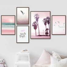 Posters And Prints Wall Art Canvas Painting Seascape Bird Tree Quotes Wall Poster Nordic Canvas Pictures For Living Room Decor moon sun quotes nordic poster wall art canvas painting posters and prints canvas art print wall pictures for living room decor