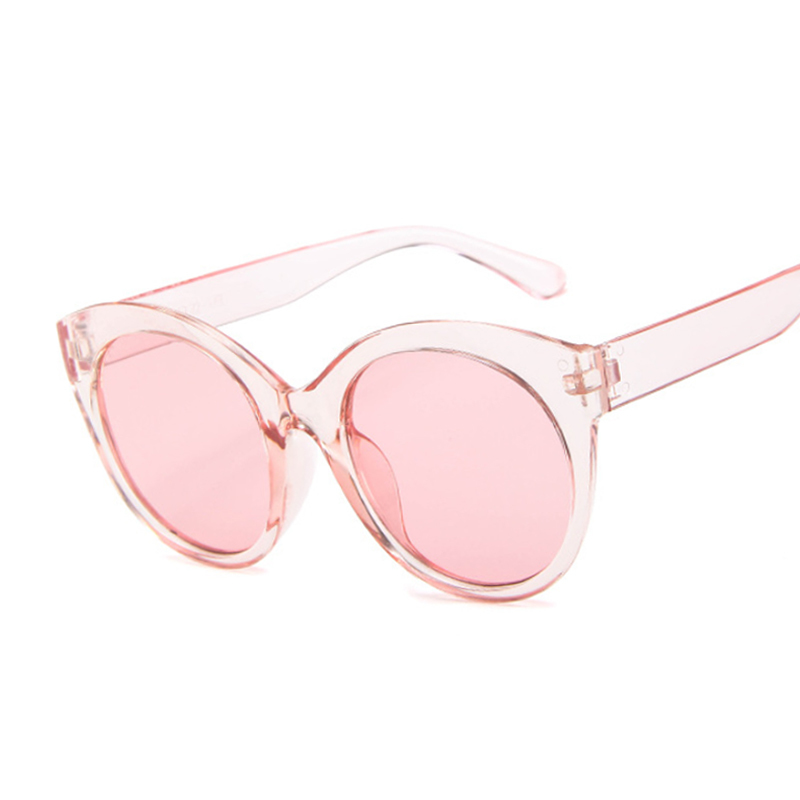 Summer Cat Eye Round Sunglasses Women Brand Designer Transparent Shades Sun Glasses Female Cool Color UV400 Oculos De Sol Gafas