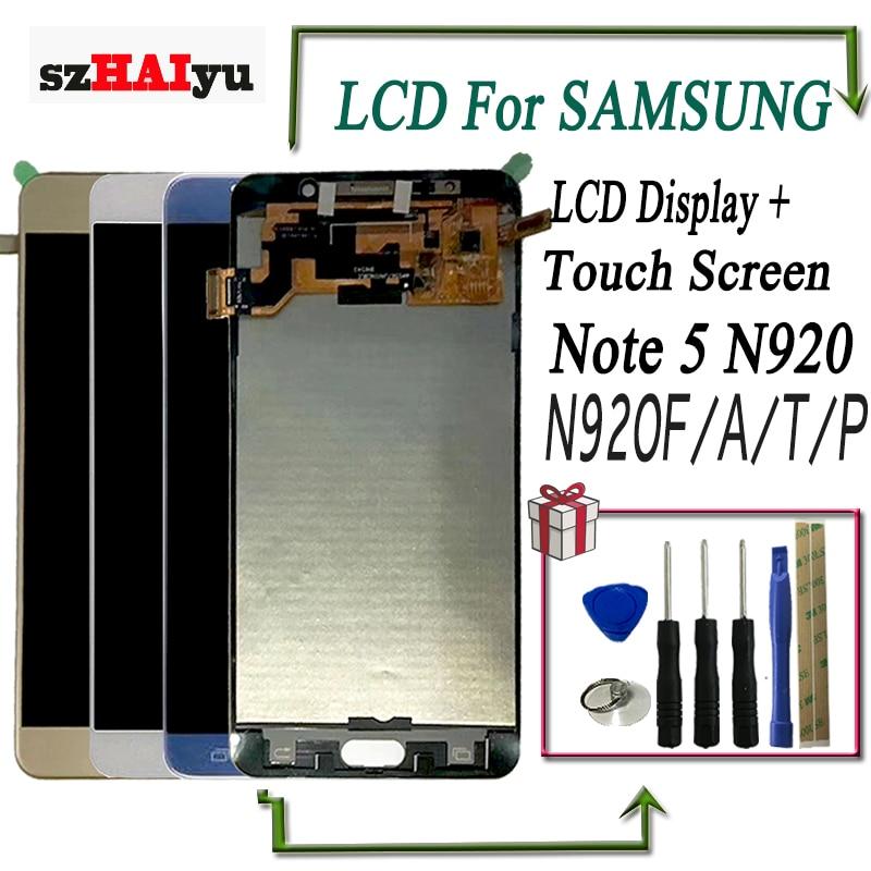 szHAIyu LCD Display Brightness Adjustable Touch Screen For Samsung Galaxy Note5 N920 N920F N920A N920P N920T LCD DigitizerszHAIyu LCD Display Brightness Adjustable Touch Screen For Samsung Galaxy Note5 N920 N920F N920A N920P N920T LCD Digitizer