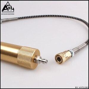Image 3 - Bomba de mano PCP de alta presión 4500ps separador de aceite y agua con manguera, conector hembra y macho, tanque de aire pcp M10 * 1 set
