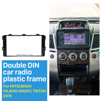 Seicane Fantastic Double Din Car Radio Fascia for 2015 Mitsubishi Pajero Sport Triton Trim Dash CD Installation Kit Frame Panel