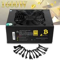 80 Plus Efficiency 1600W Modular PC Power Supply 12V 24PIN 8PIN For Miner Mining Computer Components